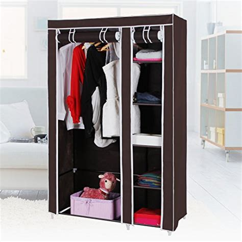 Cover Organizer Small Brown songmics clothes closet portable wardrobe storage