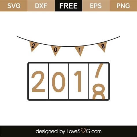 new year 2018 countdown new year 2018 countdown lovesvg