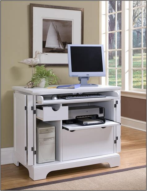 Computer Storage Desk Gorgeous Desk With Computer Storage With Small Computer Desk With Storage Homezanin Furniture