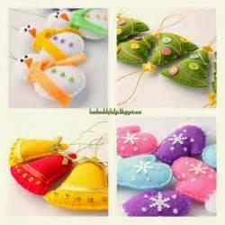 Handmade by helga felt christmas tree ornaments