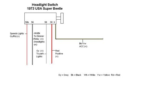 wiring diagram for headlight switch 35 wiring diagram