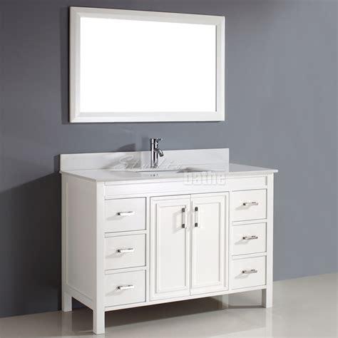 studio bathe corniche 48 inch bathroom vanity white finish