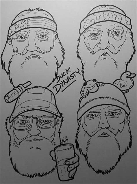 coloring pictures of duck dynasty duck dynasty free colouring pages