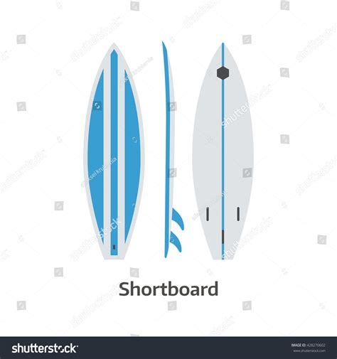 vector board layout short board vector icon isolated on stock vector 428270602