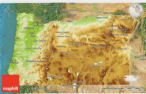 3d map of oregon physical 3d map of oregon satellite outside
