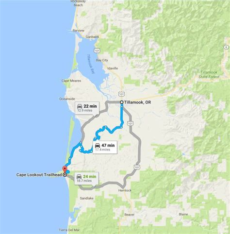 map of oregon lookouts 21 awesome cape lookout oregon map swimnova