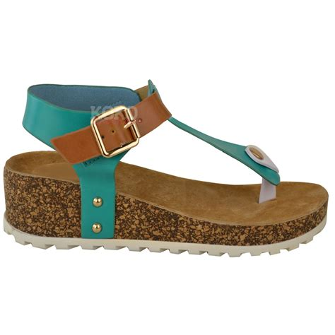 comfort sandals new ladies womens wedge comfort sandals cushioned flip