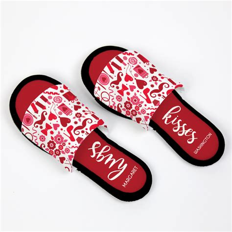 personalized house slippers buy now personalized hugs and kisses house slippers