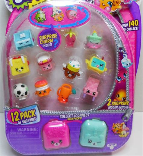 shopkins season 5 pack of 12 shopkins season 5 charms backpacks 12 pack