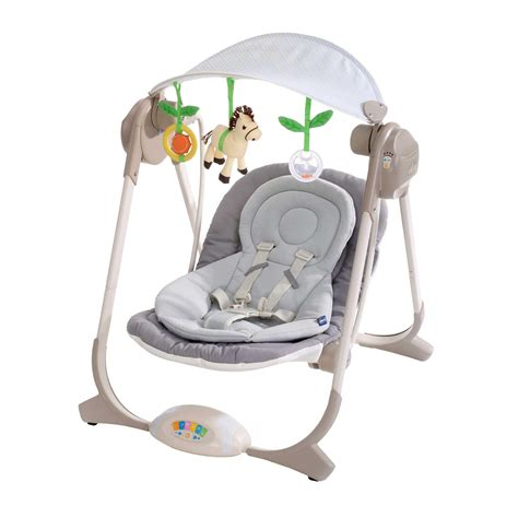 baby swing with canopy chicco polly new born baby childs swing rocker with