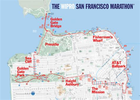 san francisco race map san francisco marathon marin radio society