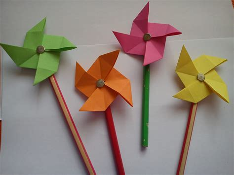 Paper Windmill Craft - arts crafts origami for step by step how to make
