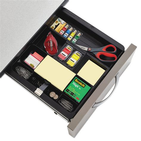 Desk Drawer Organization Recycled Plastic Desk Drawer Organizer Tray Plastic Black