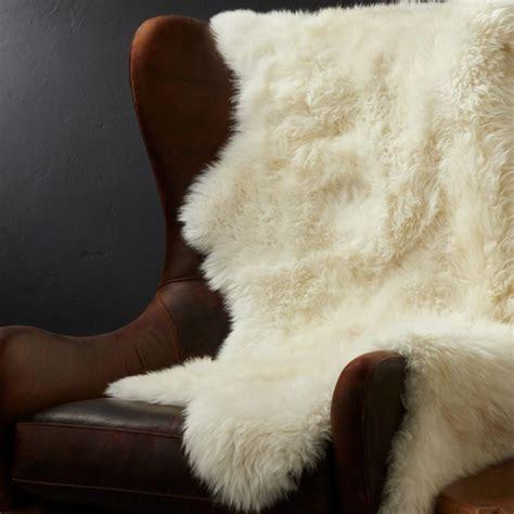 sheepskin throw rug reviews crate  barrel