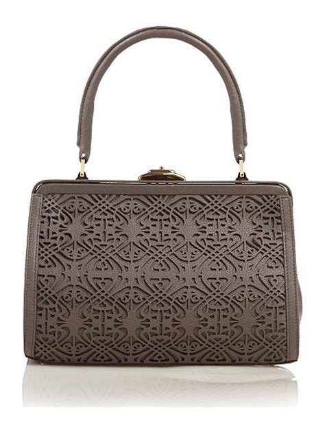 Handbags In The Biba Lives Vintage Range At Miss Selfridge the handbag pulse gorgeous biba laser cut frame bag