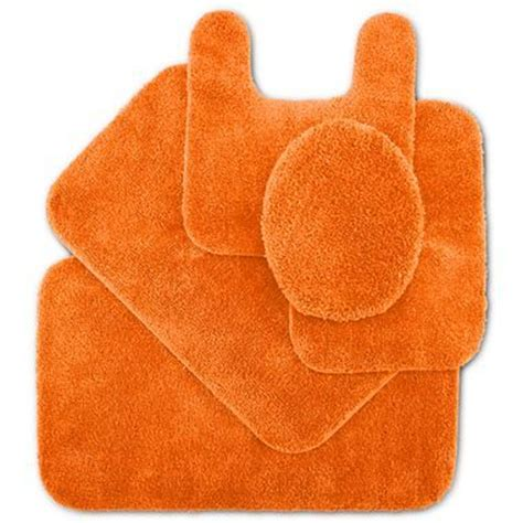 Orange Bathroom Rug Impressions Bath Rugs Orange It S All About Orange
