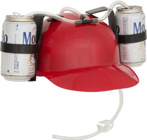 drinker and soda guzzler helmet