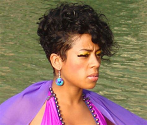 keyshia coles mother frankie hairstyle curly mohawk cuts color pinterest summer i love