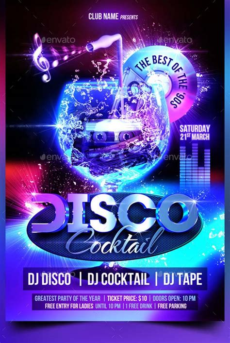 template flyer disco 17 creative cocktail party flyer designs download now