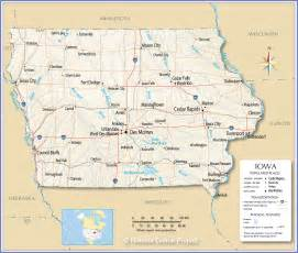 maps united states map of iowa