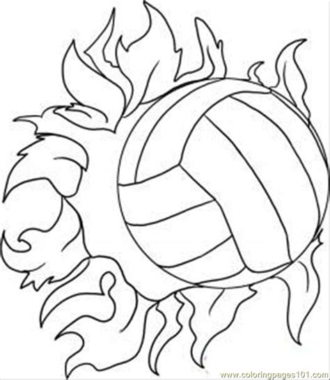 printable picture of a volleyball volleyball printable coloring pages