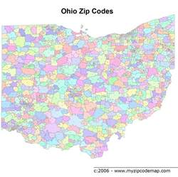 zip code map ohio zip code maps free ohio zip code maps
