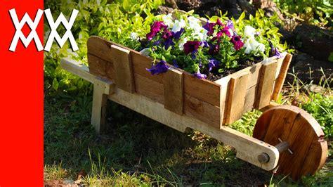 rustic wheelbarrow garden planter easy diy weekend