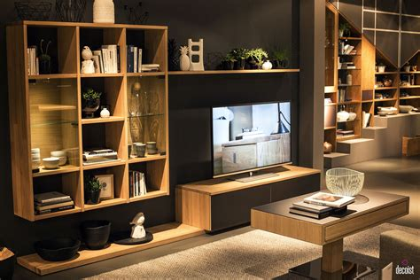 Custom Display Cabinets Tastefully Space Savvy 25 Living Room Tv Units That Wow