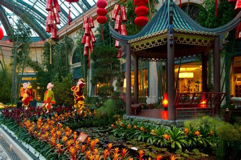 Bellagio Conservatory Botanical Gardens Ring In The Year Of The Snake With Celebratory Dances Authentic Cuisine Vibrant Displays At