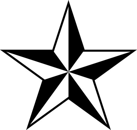5 point star tattoo nautical