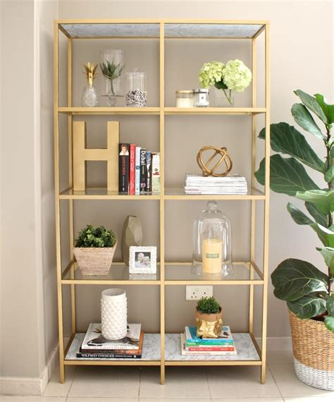 spray paint bookshelf 14 diy gold home decor on the cheap tip junkie