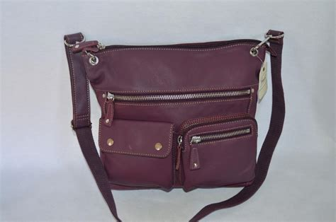 Fossil Totte Big Size Bag In Bag fossil large purple leather top zip sutter crossbody handbag bag new with tags ebay