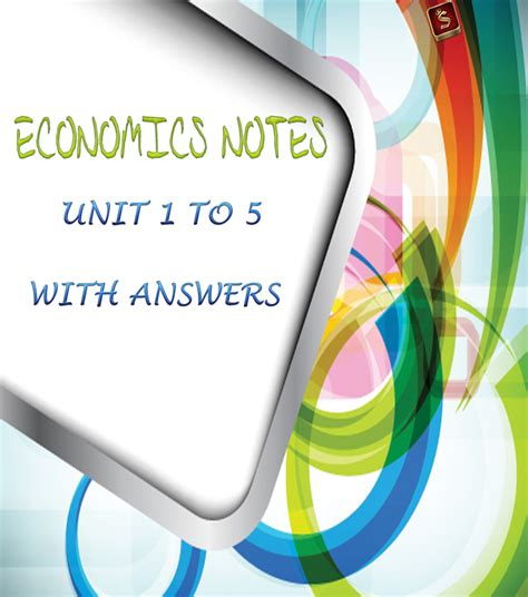 Mba Notes Corner by Ba9102 Economics Notes Unit 1 To 5 With Answers