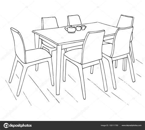 tische zeichnen tisch und st 252 hle auf dem tisch liegen zwei tassen hand