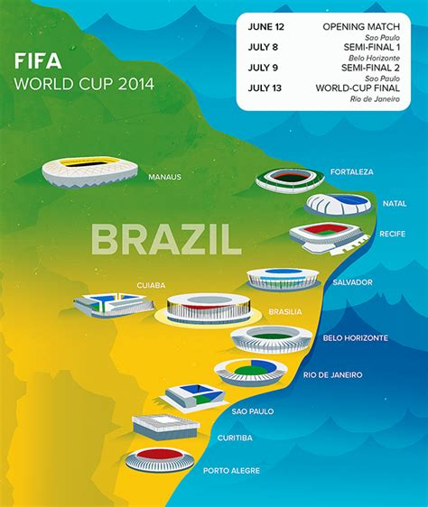 world cup 2014 cities map brazil map world cup images
