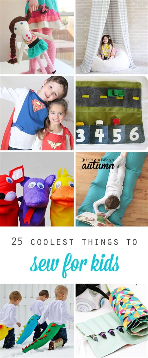 25 coolest things to sew for kids diy gift ideas it s