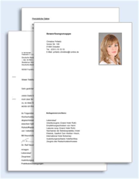 Bewerbungsmappe Hotelfachfrau Bewerbungs Paket Hotelfachmann Muster Zum