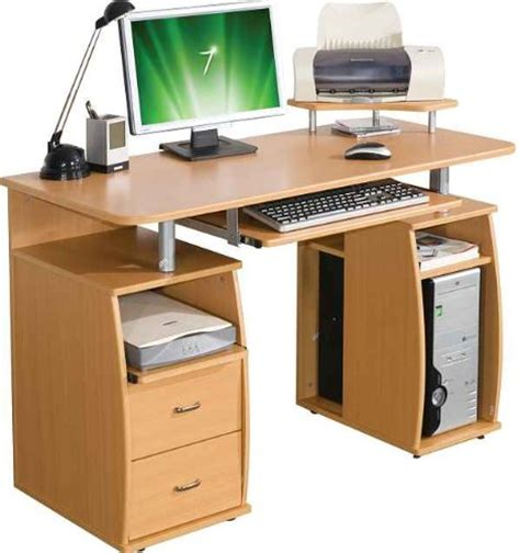 Desk Tracker by Piranha Pc5b Large Computer Desk With 2 Drawers And 4