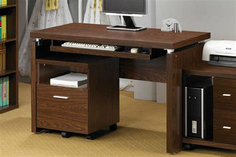 Computer Desk Brown Coaster 800831 Brown Wood Computer Desk A Sofa Furniture Outlet Los Angeles Ca