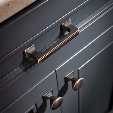 Copper Kitchen Cabinet Hardware Liberty Hardware P20383 Vbc C Bronze With Copper Highlights Cabinet Pull Build Tlh