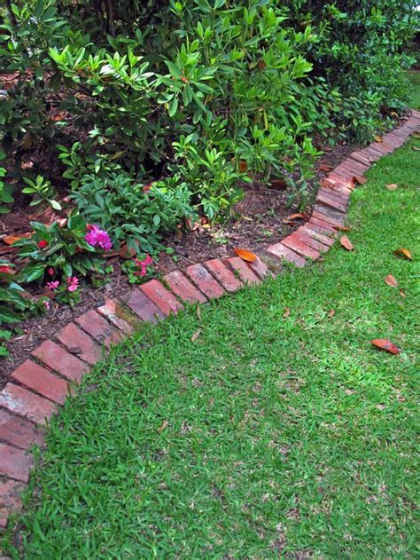 Brick Garden Edging Ideas Crisp Brick Edging I Could Do This Gardening