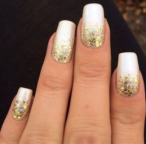 white gold with glitter tips nails 65 most beautiful glitter nail art designs