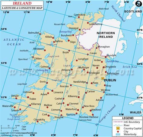 0008270333 comprehensive road atlas ireland ireland latitude and longitude map
