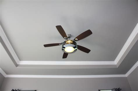 Ceiling Fan Decorative Molding by Tray Ceiling With Crown Molding Upgrade Bedroom Other