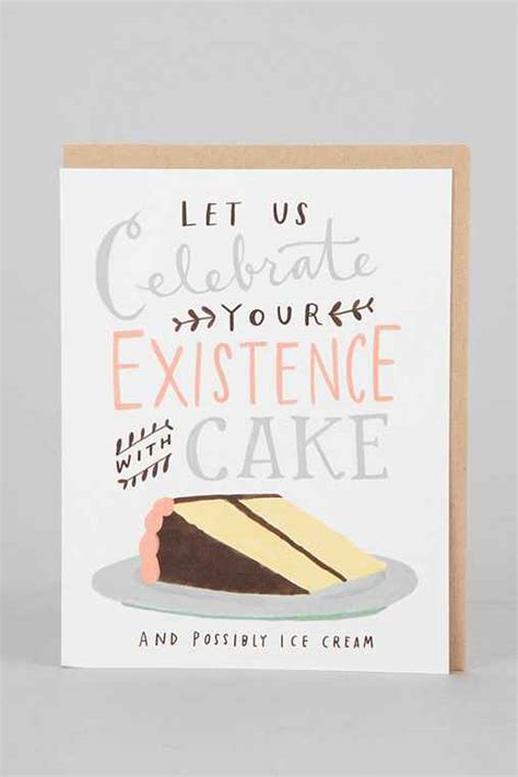 Urban Outfitters Gift Card - emily mcdowell celebrate with cake birthday card urban outfitters