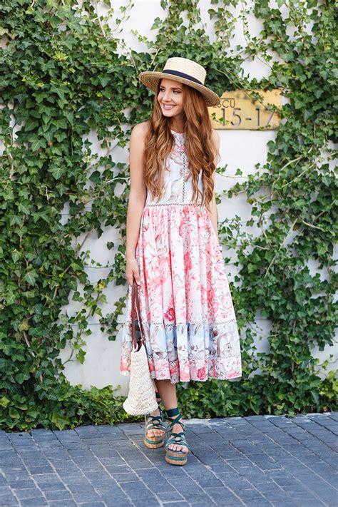 Promo Murah Summer Dress Flower Pastel pastels dress larisa costea