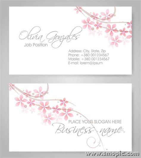 simple busiuness card template illustartor cc simple fresh petals theme business card background