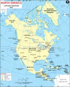 america latitude and longitude map