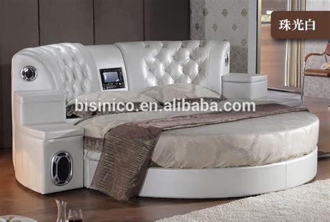 hotel lit rond bisini v 233 ritable en cuir dvd lit rond avec haut