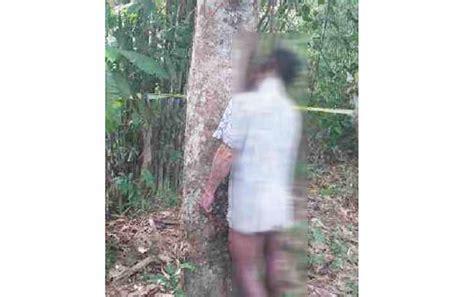 Karet Nias Pemuda Nekat Gantung Diri Di Pohon Karet